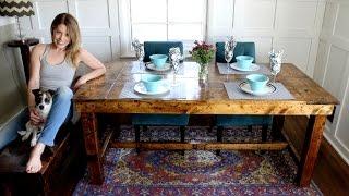 The $50 Farmhouse Table - Easy DIY Project