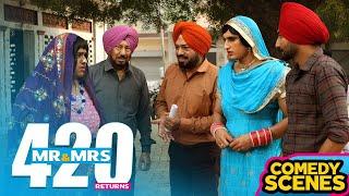 Superhit Comedy Scenes || Mr & Mrs 420 Returns || Funny Scenes || Jassie & Ranjit Bawa
