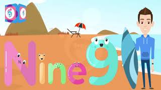 Learn To Spell Number Words 6 To 10   Number Spellings Song Six to Ten   Begin Jr.