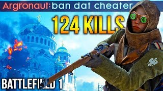 Battlefield 1 ENEMY TEAM THINKS I CHEAT? Salty Hacker Accusations BF1 Sniper (with chat reactions)
