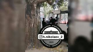 В Николаеве полиция жестко задержала пассажира маршрутки. Видео