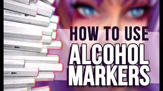HOW I USE ALCOHOL MARKERS | Ft. Spectrum Noir Markers