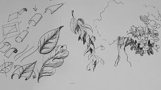 Pen And Ink Drawing Tutorials | How To Draw A Leaf And Leaves