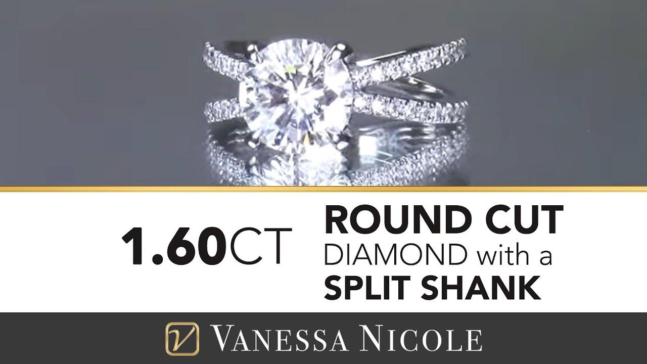 1.60ct Split Shank Diamond Ring