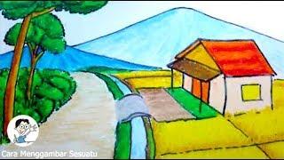 Cara Menggambar Pemandangan Rumah Mewah Free Online Videos Best