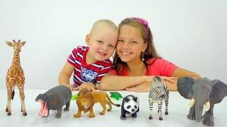 Свинка Пеппа учит животных. Видео для детей.
