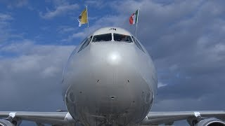 Papa Francesco Panama GMG 2019 partenza da Fiumicino 2019-01-23