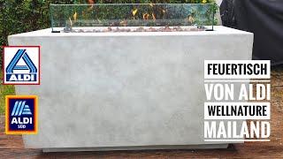 """#512: Der Feuertisch """"Wellnature Mailand"""" von Aldi - Unboxing und Vorstellung"""