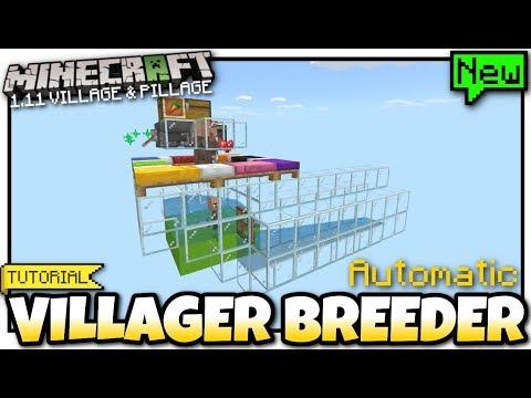 Minecraft Bedrock - 1 11 VILLAGER BREEDER ( Automatic )[ Redstone