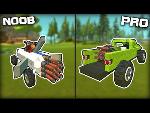 NOOB vs PRO Spudgun Powered Challenge! (Scrap Mechanic Gameplay)