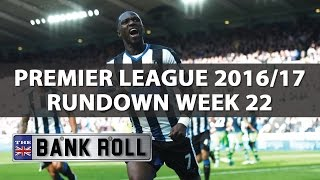 Premier League 2016/17 Rundown  Week 22  Soccer Predictions