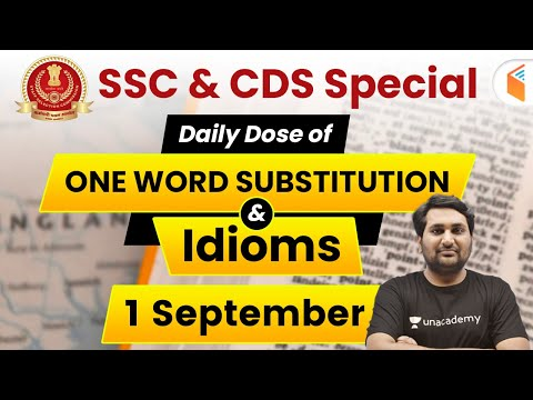 6:30 AM - SSC & CDS English Daily Dose | English One Word Substitution & Idioms (Day #75)