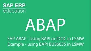 Gambar cover SAP ABAP : Using BAPI or IDOC in LSMW Example - using BAPI BUS6035 in LSMW