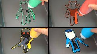 ROBLOX PIGGY JUMPSCARES PANCAKE ART 2 - Dinopiggy, Parasee, Torcher, Poley