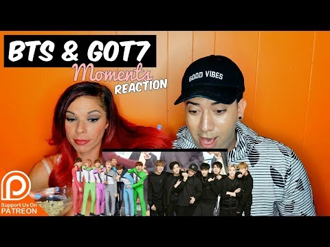 BTS and GOT7 Moments Reaction