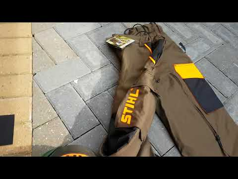 Stihl FS 3 Protect brush cutter trousers, pants, personal protective equipment review