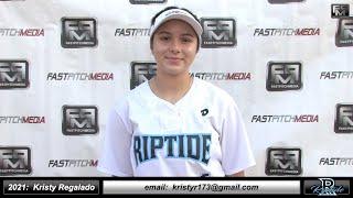 2021 Kristy Regalado - 3.83 GPA - Athletic Outfielder Softball Skills Video - Ca Riptide