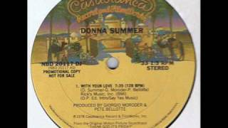 Disco - Donna Summer - With Your Love, Promo 12""