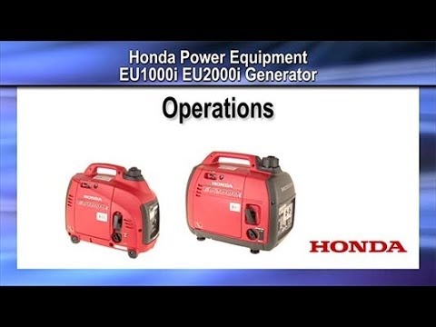 Honda Power Equipment EU1000i with CO-MINDER in Davenport, Iowa - Video 2