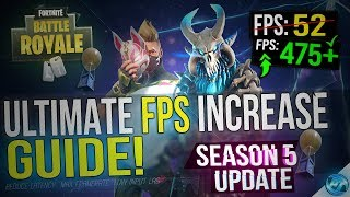 🔧 FORTNITE Battle Royale: Dramatically increase performance / FPS with any setup! Season 5