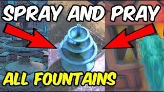 All Fountains In Fortnite Season 10 Spray and Pray Challenge (Fuentes en Fortnite)