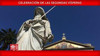 Papa Francisco-Celebración de las Segundas  Vísperas 2020-01-25