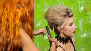 Halloween Hairstyle How To | Bride Of Frankenstein Volume Up Do | Phoebe Lettice-Thompson