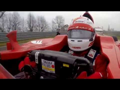Onboard with Sebastian Vettel on his Ferrari debut