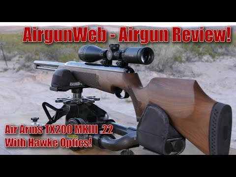 Air Arms TX200 MKIII .22 Underlever Airgun with Hawke Optics Airgun Review by AirgunWeb