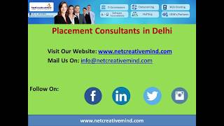 Placement Consultants and placement agencies in Delhi