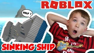 HOW TO SURVIVE SINKING SHIP In ROBLOX ! EXPLORING ISLANDS