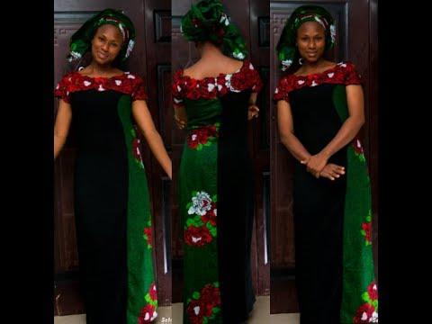 English  Combo with Ankara Fabric Dress