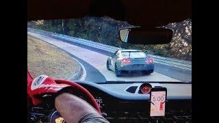 Nurburgring GT2 RS VS NISSAN GTR 760hp (BIG FLAMES!)