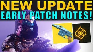 Destiny 2: NEW UPDATE INFO! Escalation Weapons, New Exotic Catalyst, & More!