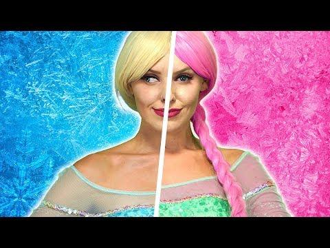 DISNEY PRINCESS CRAZY TWINS. Will Elsa, Anna, Rapunzel Aurora and Belle Be Good or Bad? (видео)