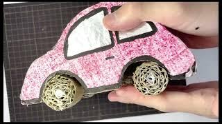 段ボールで作る車ペーパークラフト工作作り方動画