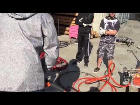 Bluelightcamp 2016 Hydraulische Schere bei der Feuerwehr