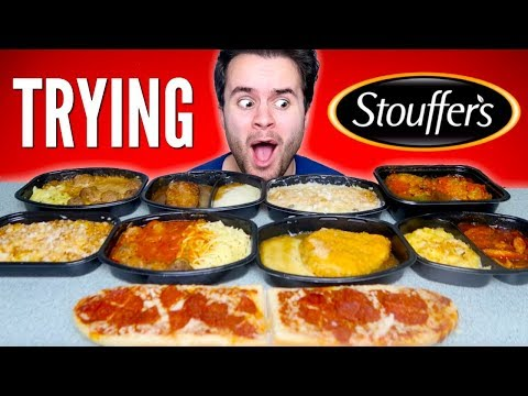 TRYING STOUFFERS FROZEN MEALS! – Pizza Bread, Fried Chicken, & MORE Taste Test!