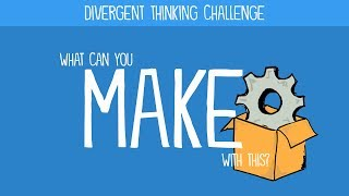 Divergent Thinking Challenge: What would you make with this?