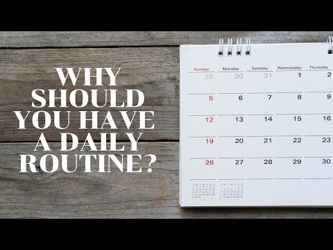 Why should you have a daily routine?