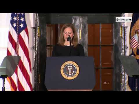 President Trump hosts swearing-in ceremony for Amy Coney Barrett