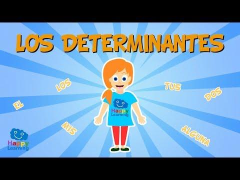 ¿Qué son los determinantes?¿Sabéis cuantos tipos existen?    Vídeo Educativo para Niños