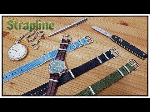 Strapline Premium Nato Uhrenarmbänder Kollektion | 4 Farben / 20 & 22 mm | Uhr Clock Watch