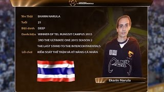 Hồ sơ tuyển thủ: Ekarin Narula - Thailand [ The Intercontinentals 2016 ]