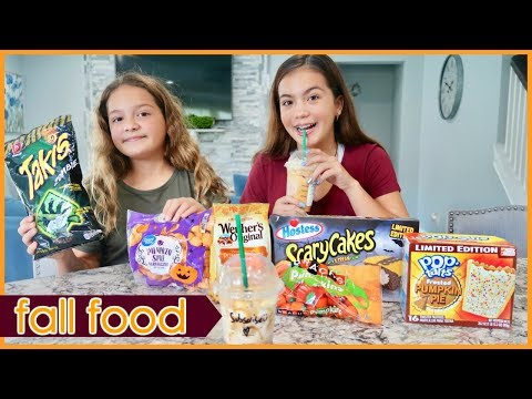 TESTING VIRAL PUMPKIN SPICE / HALLOWEEN / FALL FOOD | SISTER FOREVER
