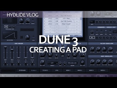 Ableton Live 10 - Dune 3 creating a pad