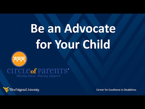 a snapshot of the Be an Advocate for Your Child video