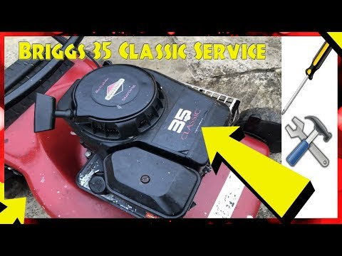How To Service A Briggs And Stratton 35 Classic Petrol Lawnmower Engine