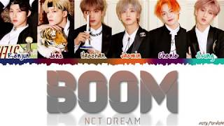 Nct Dream 엔시티 드림 - 'boom' S Color Coded_han_rom_eng