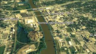 preview picture of video 'Interesting Places Along the Saginaw River'